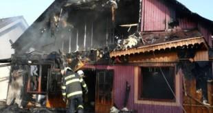 Požiar chaty na Zemplínskej Šírave