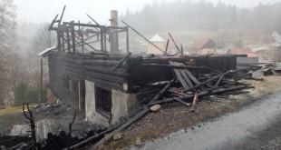 Požiar rekreačnej chaty pri Klokočove
