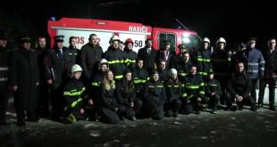 Odovzdávanie hasičskej techniky v obci Stebník