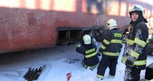 Požiar v nádrži tankera