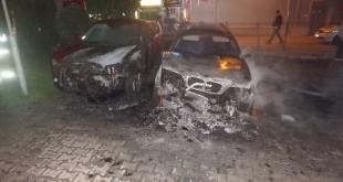 V Piešťanoch v noci zhoreli dve autá