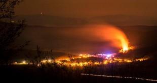Požiar v ťažko dostupnom lesnom teréne – obec Šíd