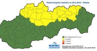 Meteorológovia očakávajú ojedinele výskyt búrok s krúpami