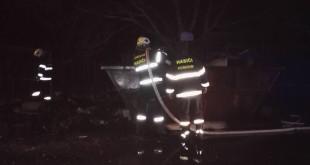 Požiaru veľkokapacitného kontajnera v obci Pobedim