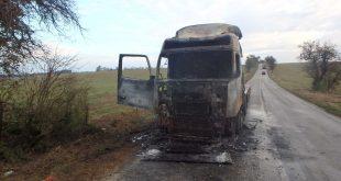 Požiar v kabíne kamiónu vznikol pravdepodobne po prevádzkovo technickej poruche