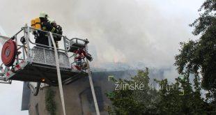 Požiar malého domu v Žiline