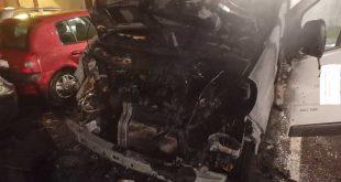 Požiar úžitkového motorového vozidla v Dunajskej Strede