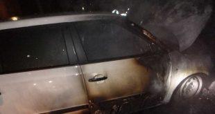 Nočný požiar vozidla v Dunajskej Strede