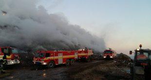 Požiar skládky odpadu v Trnave