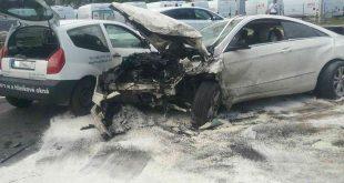Dopravná nehoda troch osobných vozidiel na Ceste na Senec