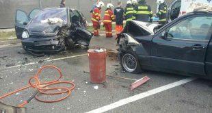 Zrážka motorových vozidiel na Ivánskej ceste v Bratislave