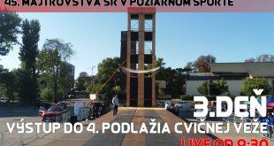 45. MSR BRATISLAVA 2017 – 3. deň, výstup do 4. podlažia cvičnej veže