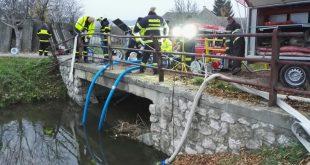 Previerkové cvičenie dobrovoľných hasičov na vodnej nádrži Čachtice