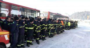 Na Oravu dorazili dva autobusy z Prešova s členmi DHZO