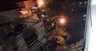 Nočný požiar garáže v Prievidzi