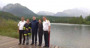 Program predstaviteľov bulharských hasičov pokračuje vo Vysokých Tatrách