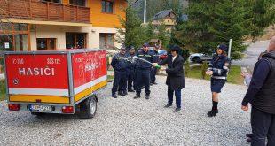 Dobrovoľní hasiči v Demänovskej Doline dostali protipovodňový vozík