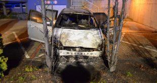 Požiar osobného motorového vozidla na Kadnárovej ulici v Bratislave