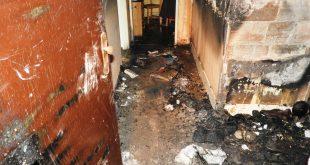 Požiar bytu v Krupine