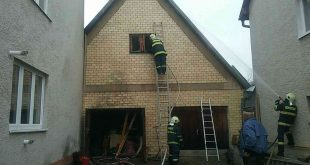 Požiar prístavby rodinného domu v Pliešovciach