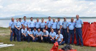 Taktické cvičenie príslušníkov záložnej hasičskej jednotky SŠPO MV SR v Žiline